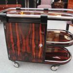 Bar trolley art deco en ébène de Macassar