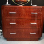 Commode art deco en Acajou blond ondé /Chestdrawer art deco