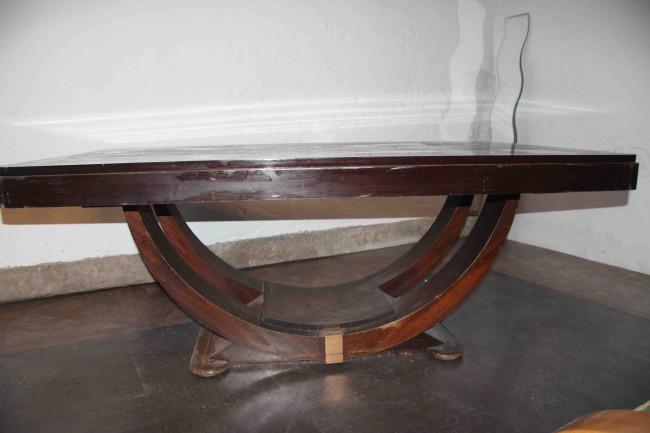 Table salle à manger art deco palissandre des Indes ref:tsam 30