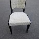 Six Chaises Art Deco en bois laqué noir