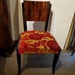 Chaises Art deco ébène de Macassar