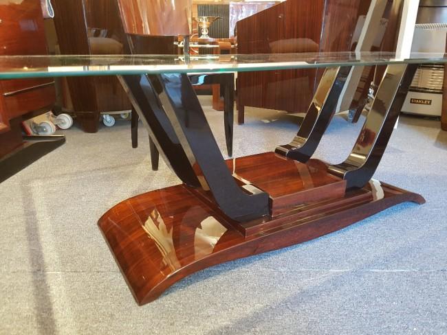 Table basse art deco en palissandre de Rio  ref; Tabb25