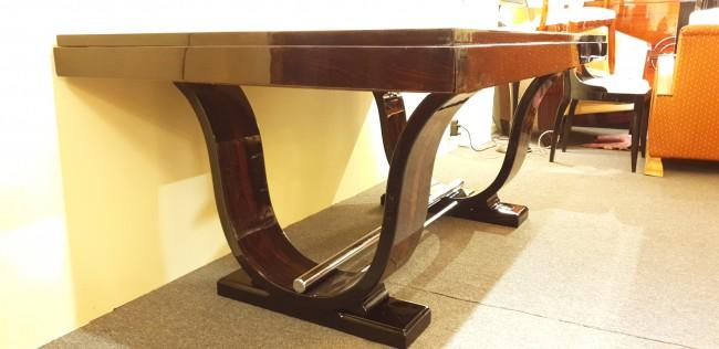 Table de salle à manger art deco en ébène de Macassar /dinning table art deco Macassar VENDU