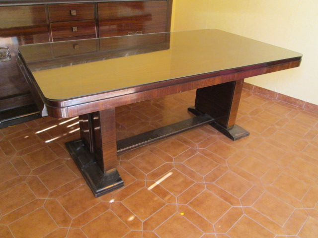 Table de salle à manger art deco palissandre des Indes