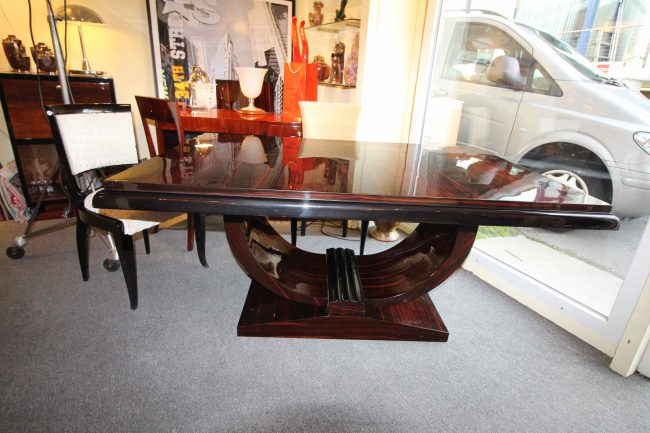 Table art deco Macassar à rallonges Dinning Art Deco table