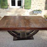 Table art deco ébène de Macassar