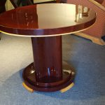 Table basse de salon art deco acajou et sycomore