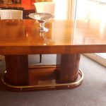 Table art deco palissandre de Rio /dinning table Art Deco