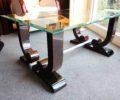 Table basse art Deco en ébène de Macassar