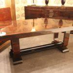 Table de salle à manger art deco ébène de Macassar