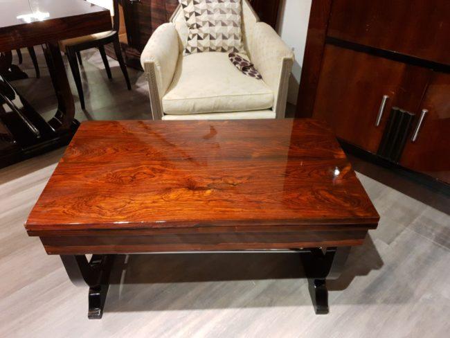 Table basse art deco palissandre de Rio