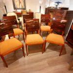 Six chaises en macassar