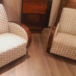 Salon Art deco fauteuils et canapè palissandre de Rio