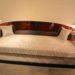 Cosy canapé art deco en ébène de Macassar